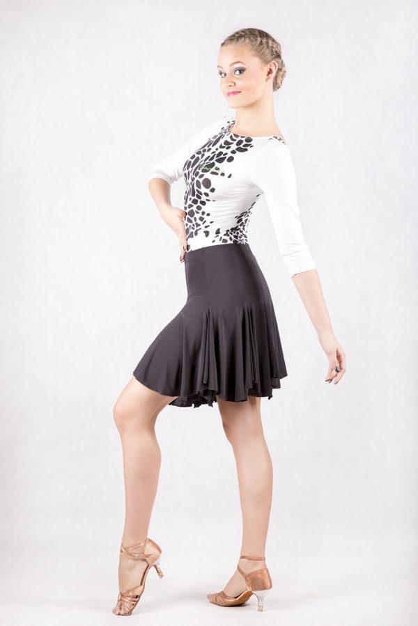 Latin Flip Skirt Black<br/> P14120035-01