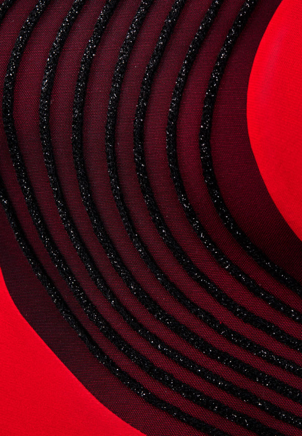 Swirl Latin Dress Red <br/> P17120035-02