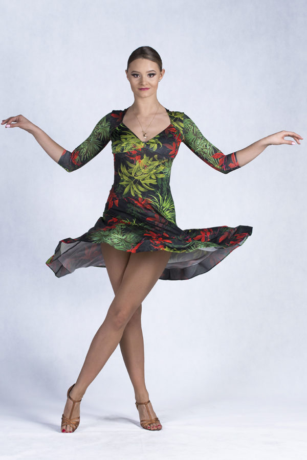 Swing Time Dress Tropical <br/> P18120020-05