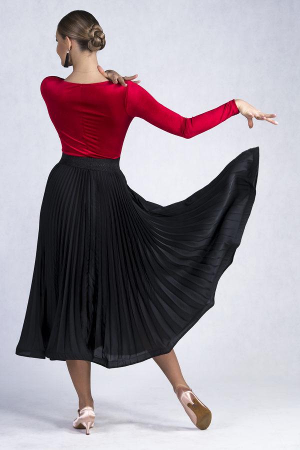 Marilyn Pleated Skirt Black<br/> P19120011-01