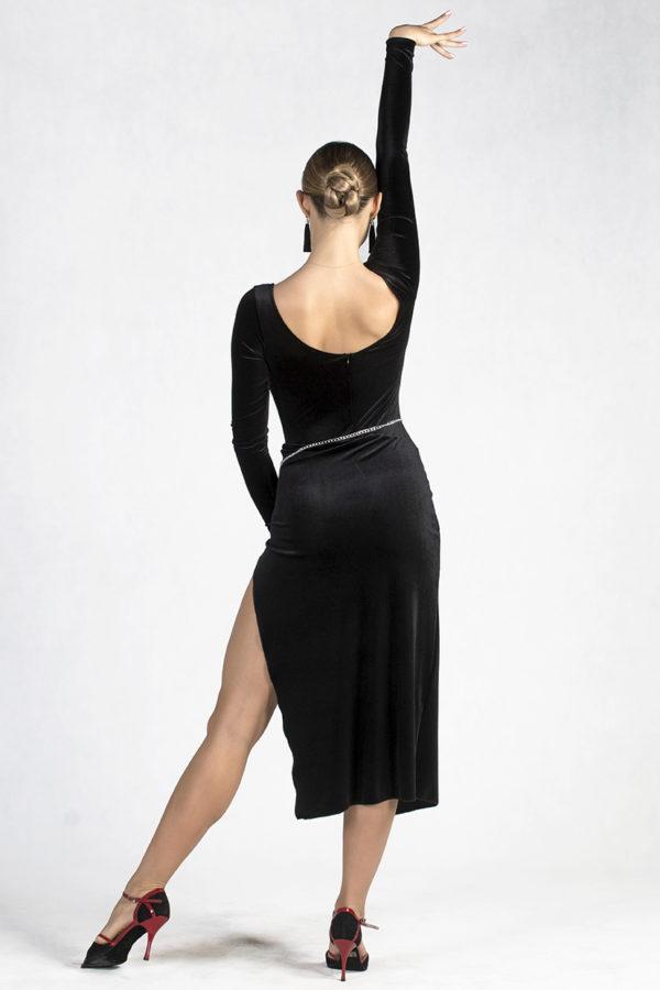 Brooklyn Velvet Dress Black <br/> P19120012-01