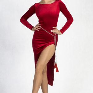Brooklyn Velvet Dress Red <br/> P19120012-02
