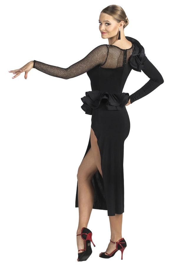 Broadway Frill Dress Black <br/> P19120015-01