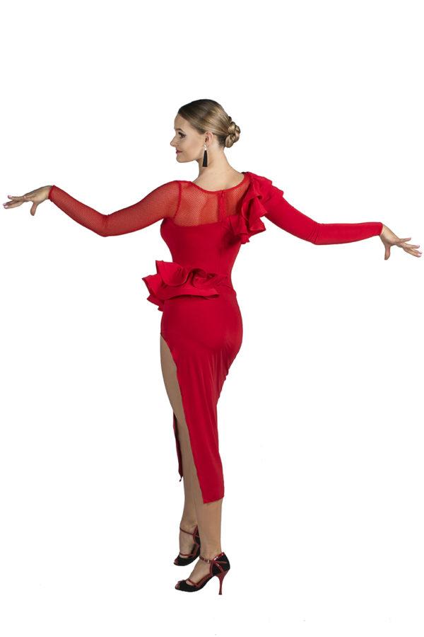 Broadway Frill Dress Red <br/> P19120015-02