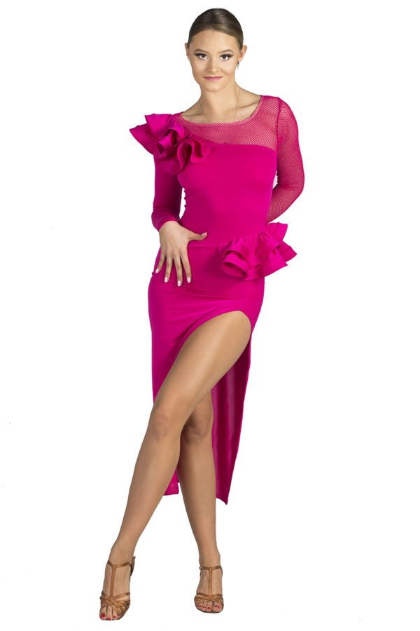 Broadway Frill Dress Amarant <br/> P19120015-03