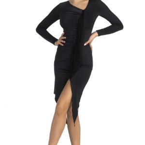 Jackie O Latin Dress Black <br/> P19120019-01