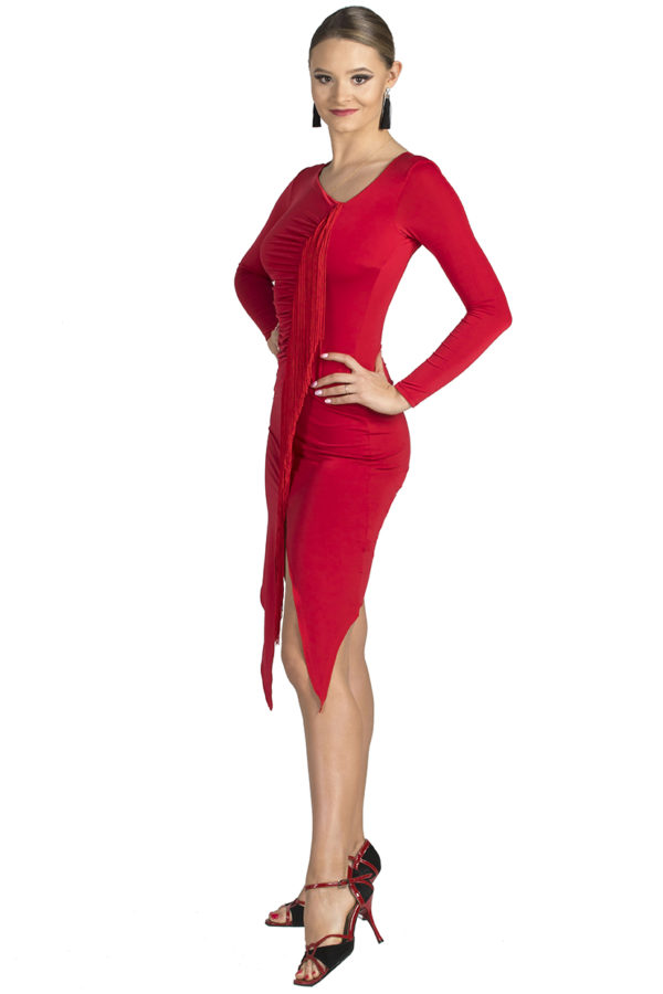 Jackie O Latin Dress Red <br/> P19120019-02