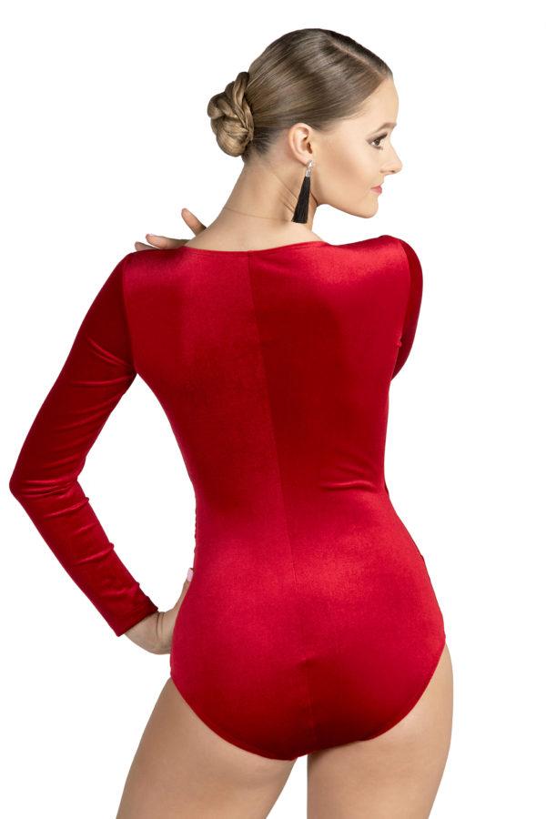 Soho Cross Over Velvet Body Red <br/> P19120028-02