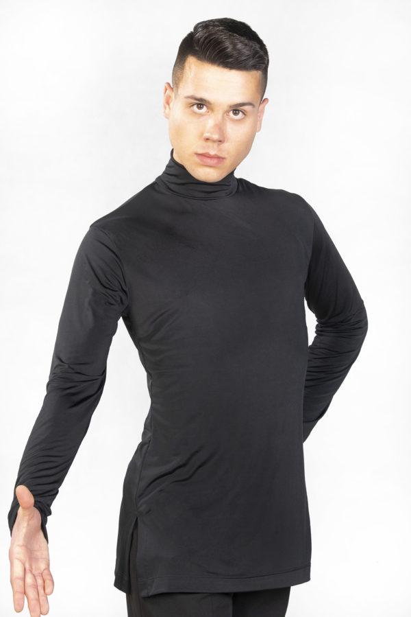 Ralf Turtle Neck Top-Black<br/> M18120007-01