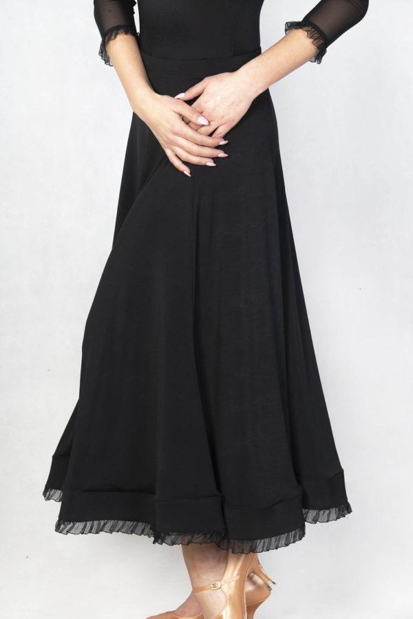 Monaco Ballroom Skirt-Black<br/> P18120022-01