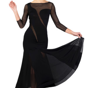 Venice Ballroom Dress Black <br/> P18120006-01