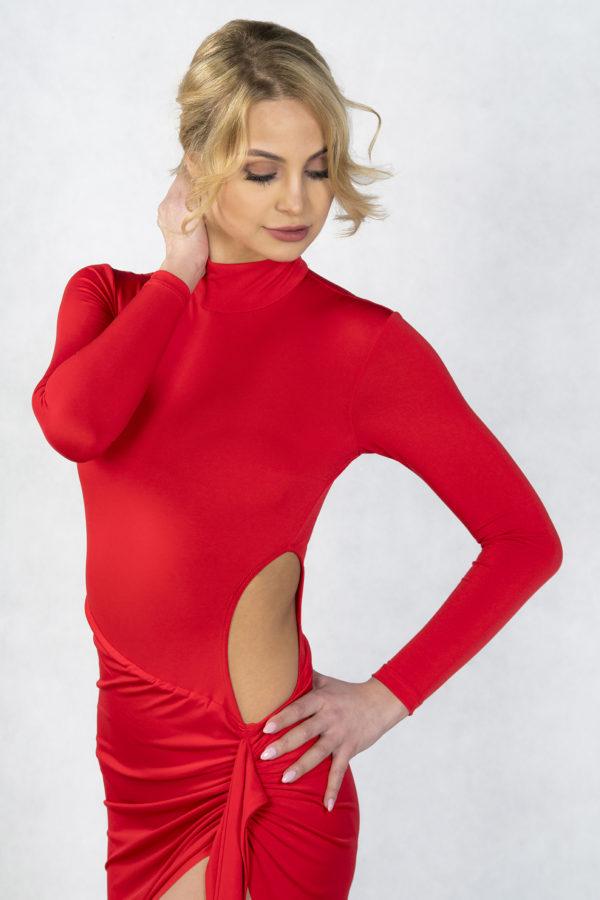 Zeta Latin Dress Red <br/> P18120010-02