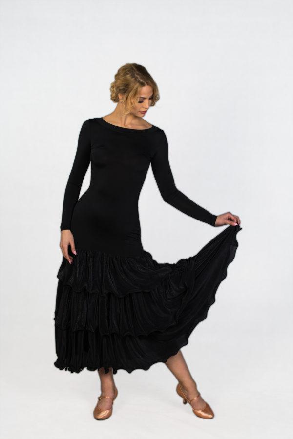 Tiffany Ballroom Dress Black <br/> P18120011-01