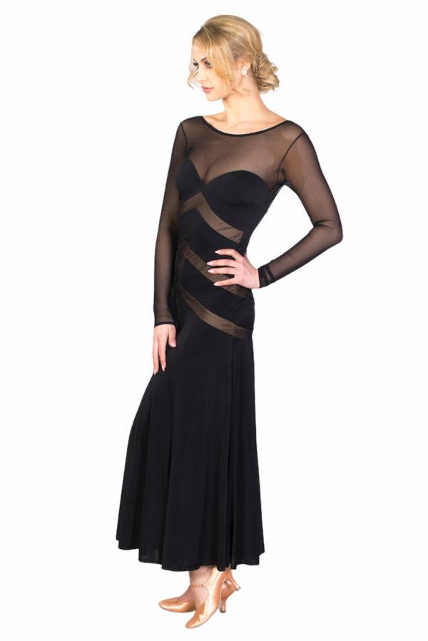 Renne Ballroom Dress Black <br/> P18120040-01