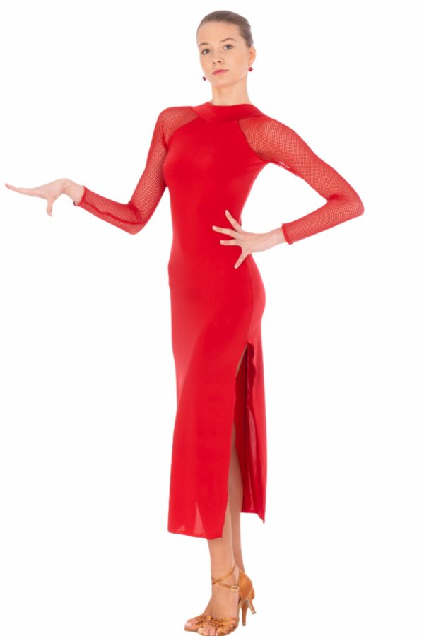 Olivia Latin Dress Red <br/> P20120005-02