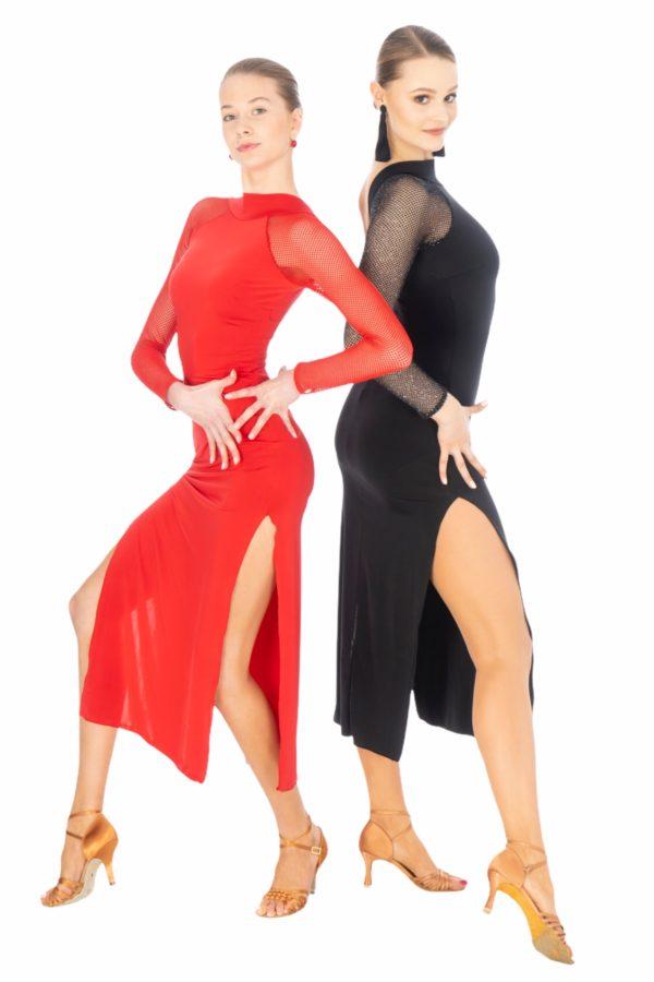Olivia Latin Dress Black <br/> P20120005-01