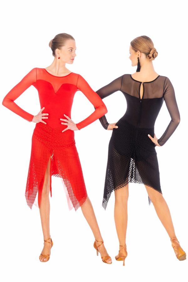 Sofia Latin Dress Red <br/> P20120006-02