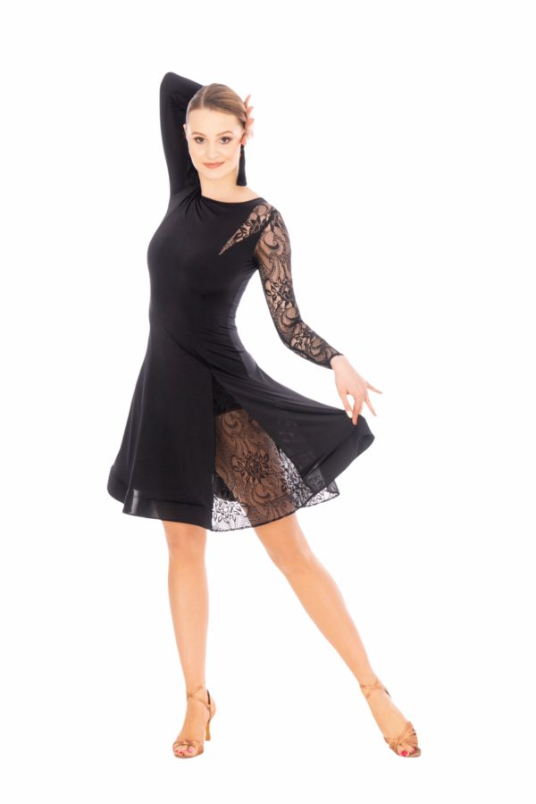 Paris Latin Dress Black <br/> P20120007-01