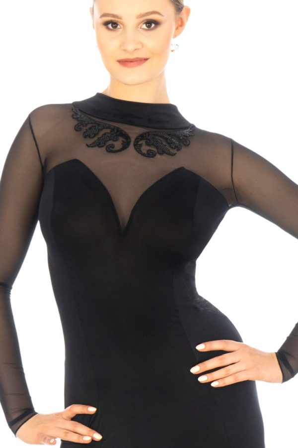 Sabrina Ballroom Dress Black <br/> P20120008-01