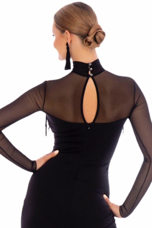 Figaro Latin Dress Black <br/> P20120010-01