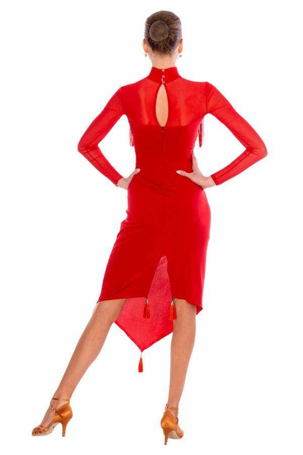 Figaro Latin Dress Red <br/> P20120010-02