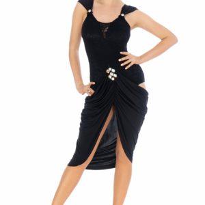 Sandra Latin Dress Black <br/> P20120013-01