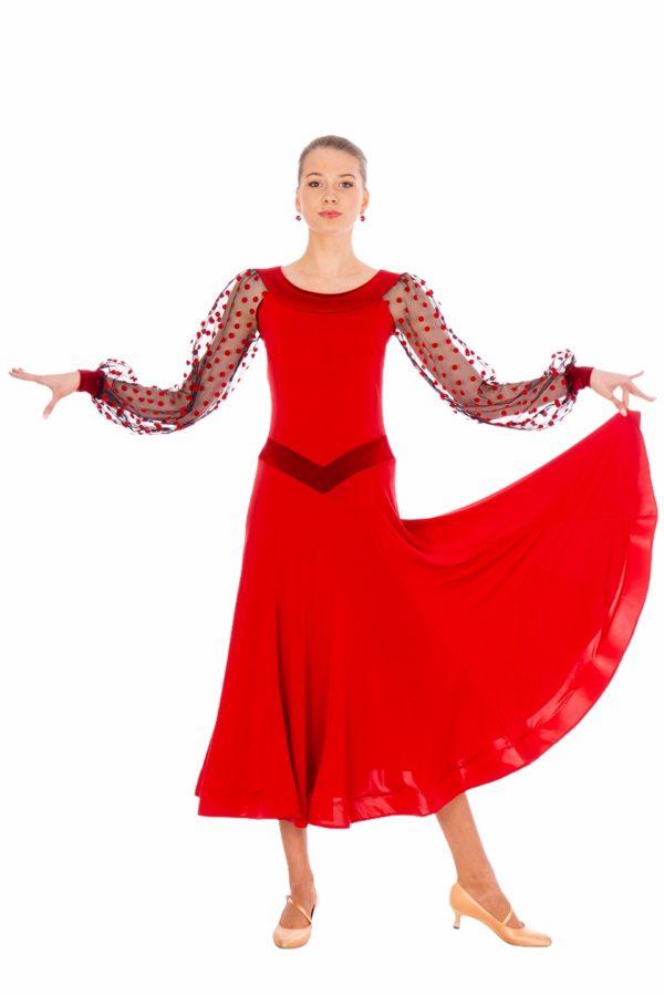 Cannes Ballroom Dress Red <br/> P20120016-02