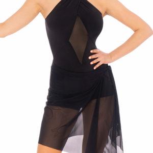Mesh Pareo Skirt Black <br/> P20120003-01