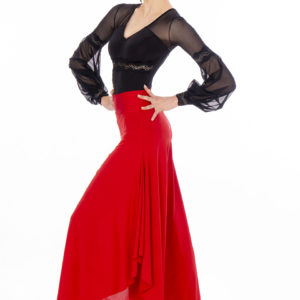 Ruffle Pant Red <br/> P20120018-02