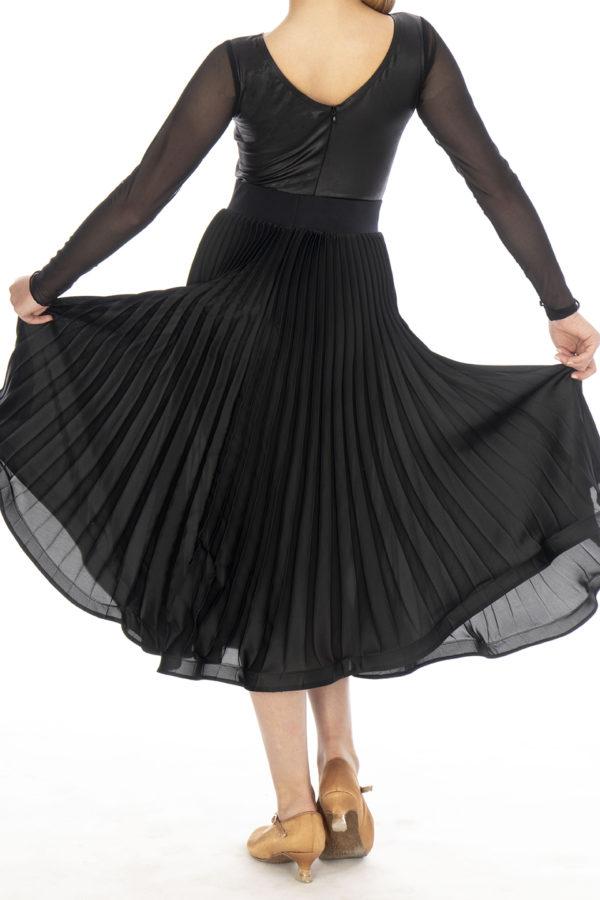 Robin Pleated Ballroom Skirt Black <br/> G20120015-01