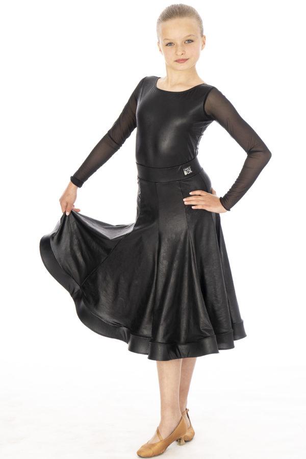 Rihanna Soft Leather Ballroom Skirt Black <br/> G20120016-01