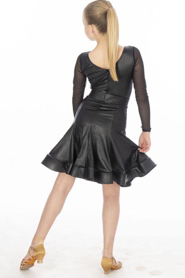 Alessia Boat Neck Soft Leather Body Black <br/> G20120001-01