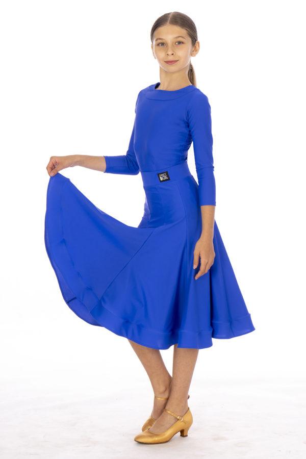 Britney Ballroom Skirt Cobalt <br/> G20120010-01