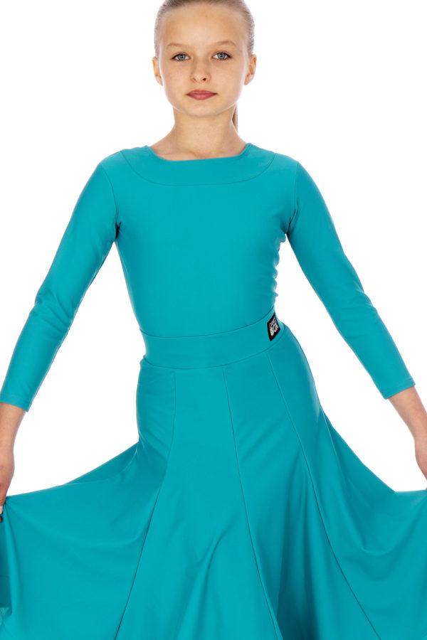 Britney Ballroom Skirt Jade <br/> G20120010-02