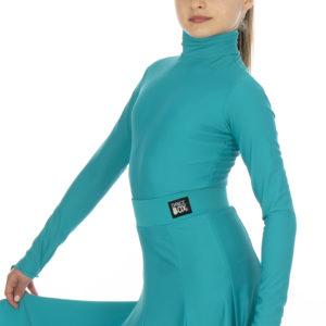 Selena Turtle Neck Lycra Body Jade <br/> G20120003-02