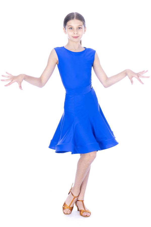 Ariana Latin Lycra Skirt Cobalt <br/> G20120011-01