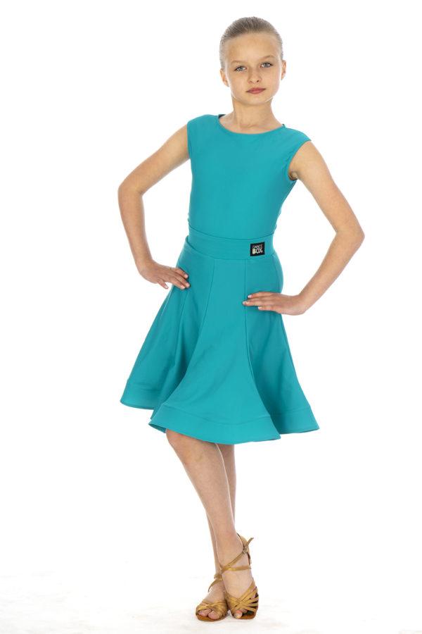 Ariana Latin Lycra Skirt Jade <br/> G20120011-02
