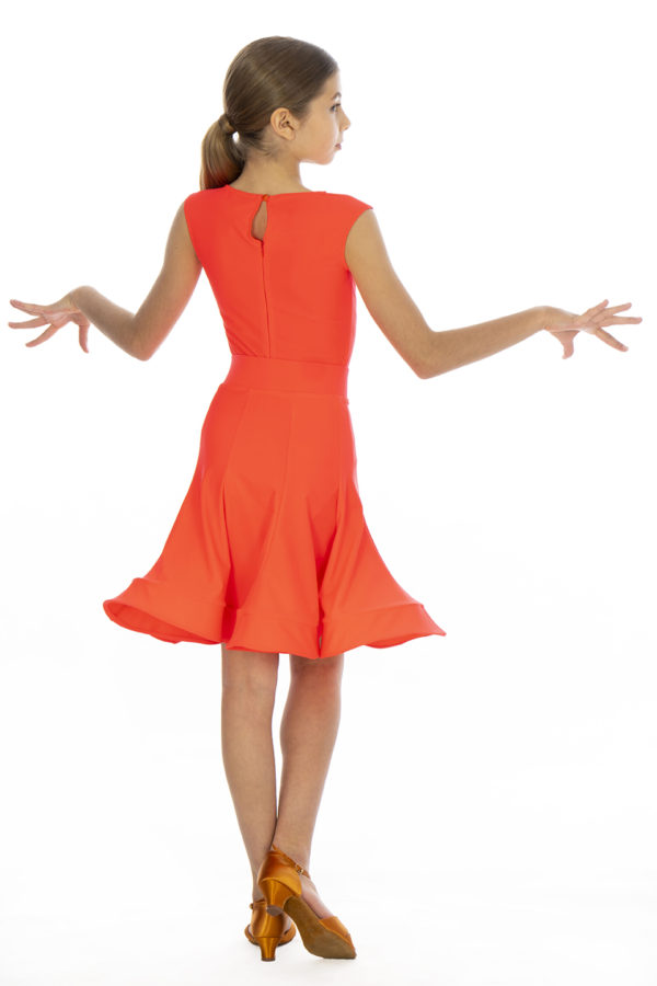Ariana Latin Lycra Skirt Fluored <br/> G20120011-05
