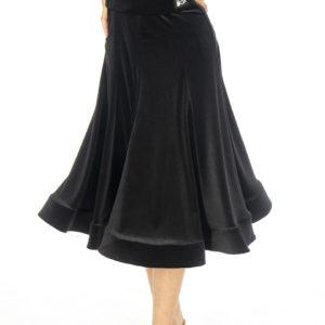 Lorde Ballroom Velvet Skirt Black <br/> G20120012-01
