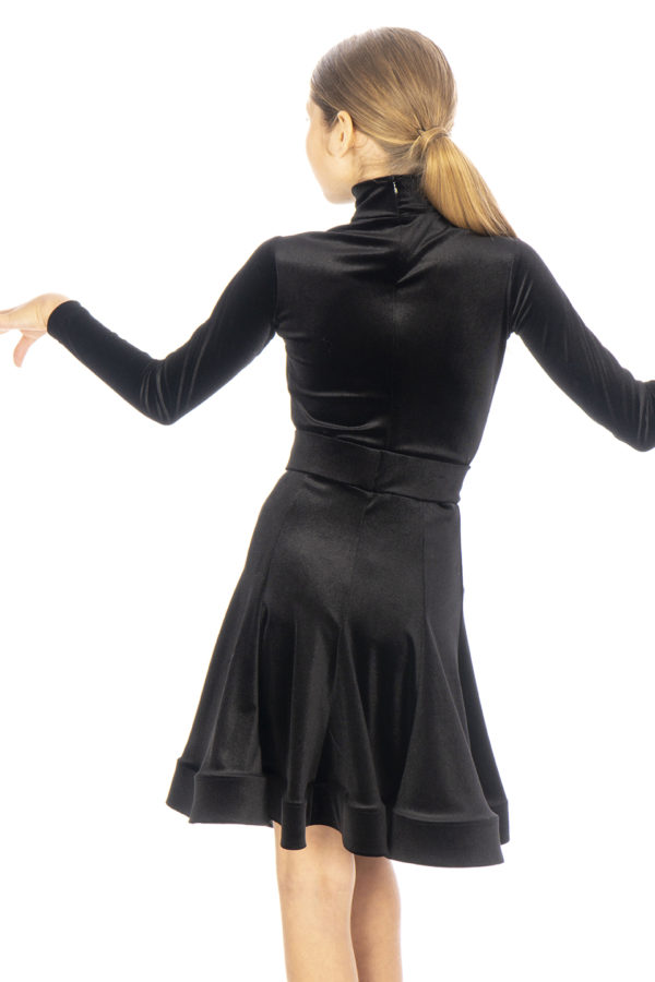 Jessie Latin Velvet Skirt Black <br/> G20120014-01