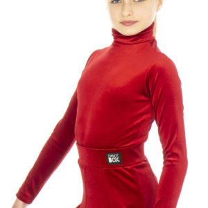 Nicki Turtle Neck Velvet Body Red <br/> G20120005-02