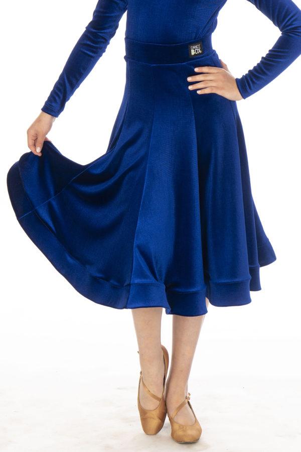 Lorde Ballroom Velvet Skirt Cobalt<br/> G20120012-03