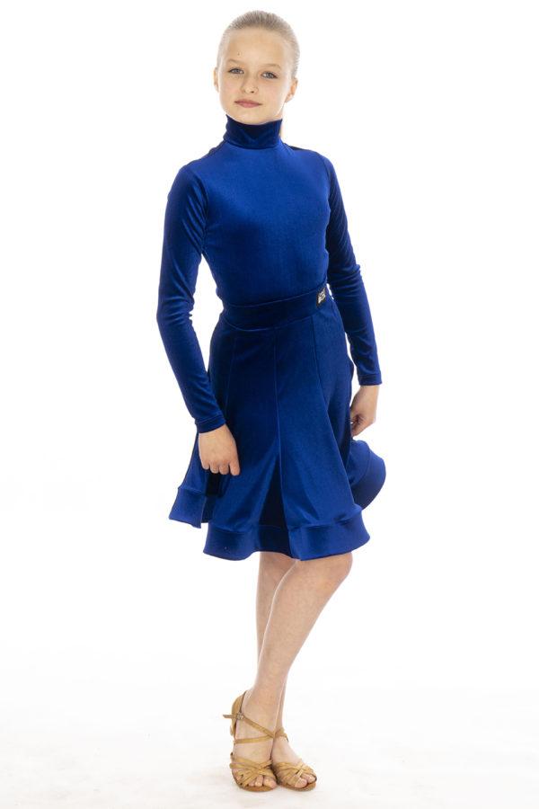 Nicki Turtle Neck Velvet Body Cobalt <br/> G20120005-03
