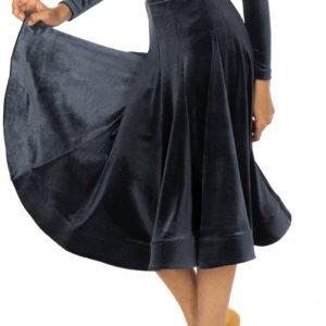 Lorde Ballroom Velvet Skirt Hematite <br/> G20120012-04