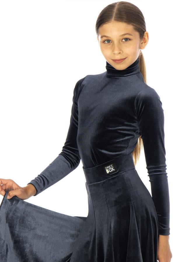 Nicki Turtle Neck Velvet Body Hematite <br/> G20120005-04
