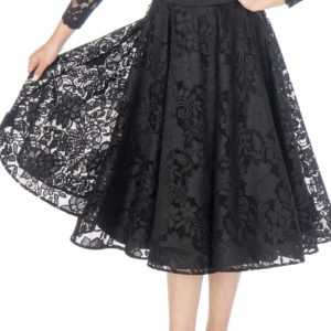 Hailee Lace Ballroom Skirt Black <br/> G20120013-01