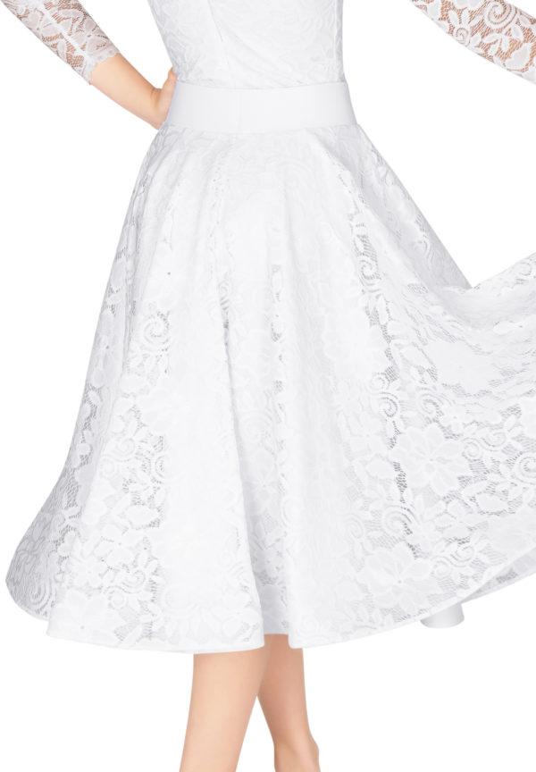 Hailee Lace Ballroom Skirt White <br/> G20120013-04