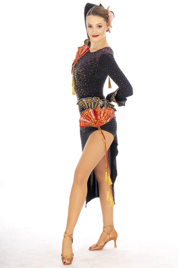 Japanese Fan Latin Dress <br/> HC20004