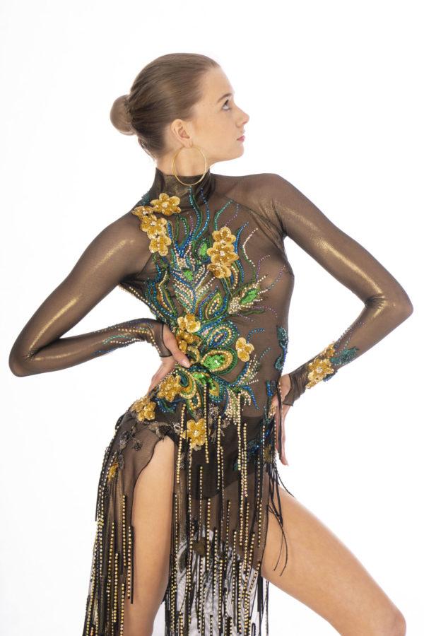 Peacock Latin Dress  <br/> HC20007