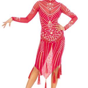 Cerise Faberge Latin Dress <br/> HC20008